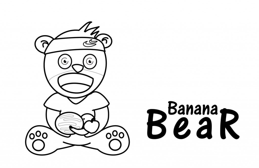 Drawing for children - Banana Bear - Gummy-Worm