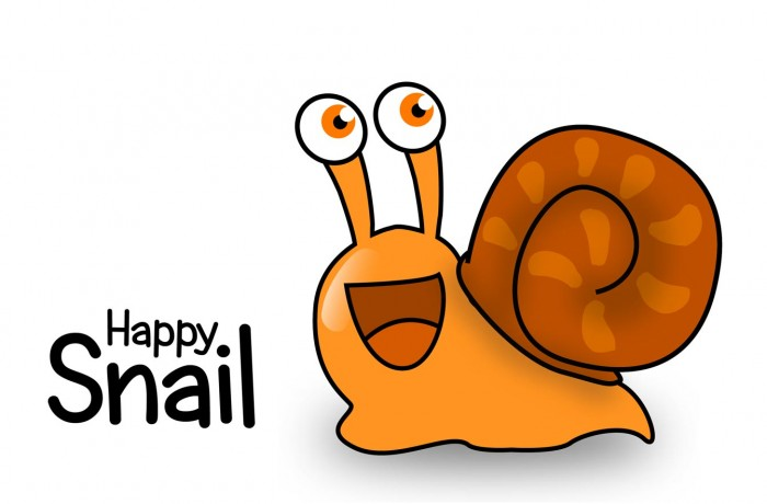 Funny pictures for kids – Happy Snail
