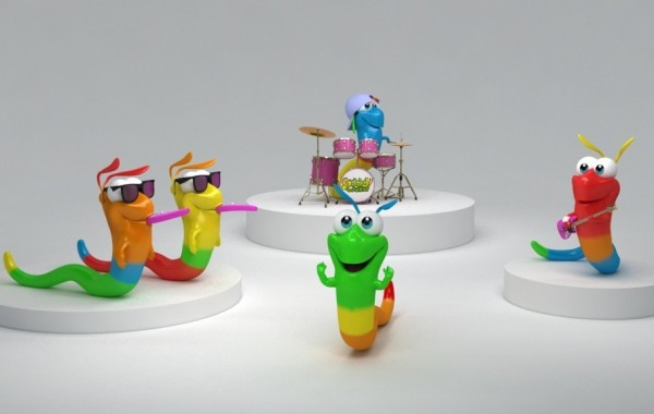 Funny pictures for kids – The Gummy Worm Band