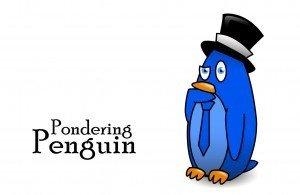 Pondering Penguin - Gummy Worm friend