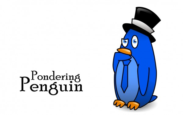 Funy pics for kids – Pondering Penguin
