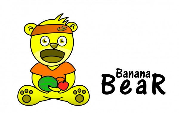 Funny pics for kids – Banana Bear