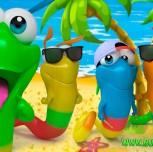 Gummy Worm Friends summer fun