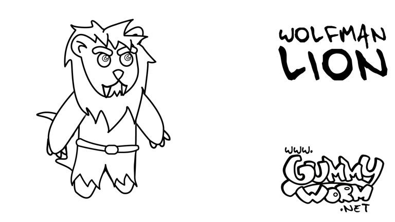 halloween-drawing-for-children-wolfman-lion-gummy-halloween