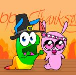 The Gummy Worm is grateful to you, and on this Thanksgiving he loves you too!