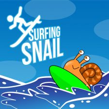 Surfing Snail - Gummy Worm friends Ecard