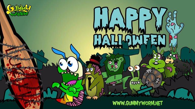 Gummy Worm All Friends Halloween eCards