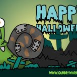 Happy Snail – Gummy Worm Friends Halloween eCards