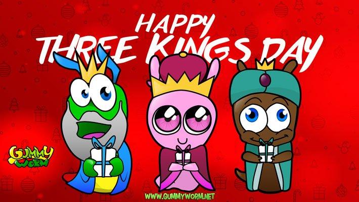 Happy-Three-Kings-Day- GUmmy Worm